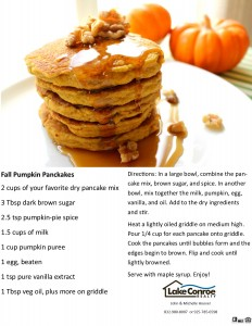 Pumpkin Pancakes for FB